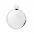 Stainless steel medallion 22x26.5mm for cabochon 20 mm x1
