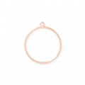 Mounting and weaving ring for jewelry creation 37 mm Rose Gold