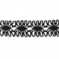 Crochet lace in-between 25 mm Black/White x 1m