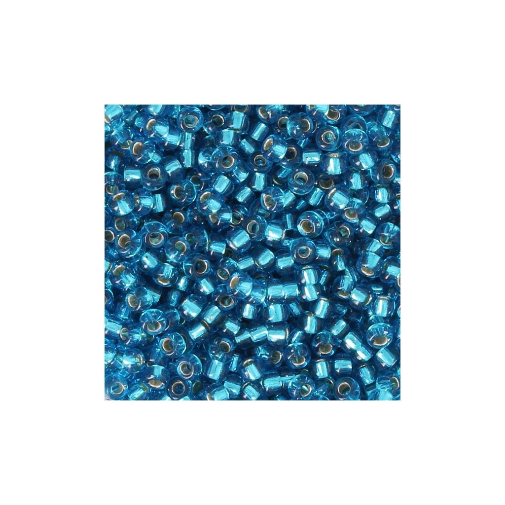 Miyuki Seed beads 11/0 25 - Capri Blue Silver Lined x8g - Miyuki ...