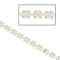 Rhinestones chain in cut crystal 2.1 mm Crystal x50cm