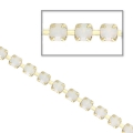 Rhinestones chain in cut crystal 2.10 mm White Opal Laiton x50cm