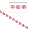 Rhinestones chain in cut crystal 2.10 mm Rose x50cm