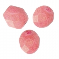 Faceted beads 4mm Strawberry Pacifica x50