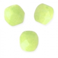 Faceted beads 3mm Honeydew Pacifica x50