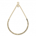 Drop spacer 2 loops 27x40mm 14K Gold filled  x1