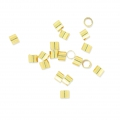 925 Sterling Silver Crimp Tubes 2.5x2 mm gold plated x30
