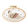 Counted cross stitch embroidery kit  14.5x9.5 cm Swan