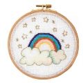 Counted cross stitch embroidery kit 15.5 cm Rainbow