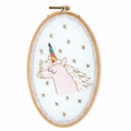 Counted cross stitch embroidery kit 13x21 cm Unicorn