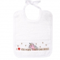 Embroidery cross stitch kit 28x28 cm Bib Unicorn