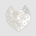 Nacre heart shaped spacer 25mm Natural
