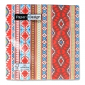 Paper towels Mexican Style 33 cm Brown/Red Coral x20