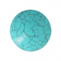 Handcraft polymer clay cabochon - Curved 30 mm Turquoise