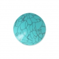 Handcraft polymer clay cabochon - Curved 25 mm Turquoise