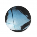 Handcraft polymer clay cabochon - Curved 30 mm Labradorite