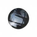 Handcraft polymer clay cabochon - Curved 25 mm Labradorite