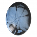 Handcraft polymer clay cabochon - Oval 30x40 mm with a groove Labradorite