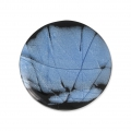 Handcraft polymer clay cabochon - Puck 30 mm with a groove Labradorite