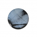 Handcraft polymer clay cabochon - Puck 25 mm with a groove Labradorite