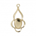 Thin Gold filled pendant 19 mm 14 carats
