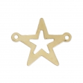 Thin Gold filled openwork star spacer 2 loops 17 mm - 14 carats
