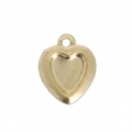 Thin Gold filled heart charm 10 mm - 14 carats