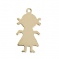 Thin Gold filled charm 18 mm - 14 carats