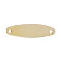 Oval Gold filled spacer 2 holes 24x6,2 mm 14 carats