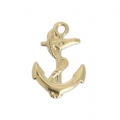 Marine anchor Gold filled charm 15 mm - 14 carats