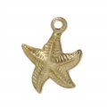 Starfish Gold filled charm 13 mm - 14 carats