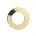 Thin round spacer with 2 holes 13 mm - 14 carats
