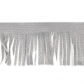 Silver fringed galon to customize shoes and clothes Silver Tone  x1m