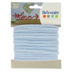 Knitting thread for customization 5 mm Light Blue x 5m