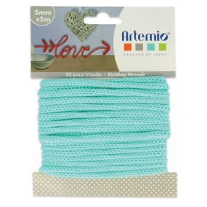 Knitting thread for customization 5 mm Light Green x 5m