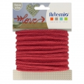 Knitting thread for customization 5 mm Strawberry Red x 5m