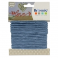Knitting thread for customization 5 mm Denim Blue x 5m