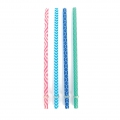 Assortment of 4 straws for Glass jar transparent trendy decor x1
