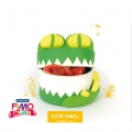Fimo modelling kit : Croco Treasure Box to make by yourself