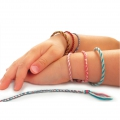 Cotton thread jewels kit : Japanese bracelets to make by yourself