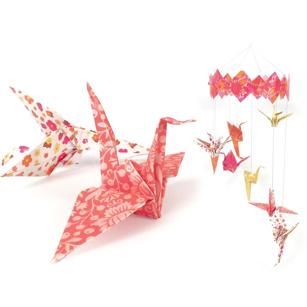 kit d co papier enfant mobile origami envol e magique. Black Bedroom Furniture Sets. Home Design Ideas