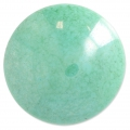 Glass Cabochon by Puca® 25 mm Opaque Green Turquoise Marble x 1