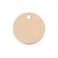 Round charm 9 mm Rose Gold filled 14 carats x1