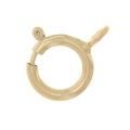 Spring clasp open link 6 mm Gold filled 14 carats