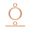 14K Rose Gold filled Toggle clasp round-shaped 11mm x1