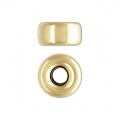 Stopper bead 5.3x2.8 mm Gold filled 14 carats x1