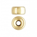 Stopper bead 6x3.4 mm Gold filled 14 carats x1