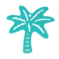 Tropcial palm tree pendant 60 mm - costume jewelry creation - Turquoise