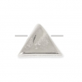 Triangular metal bead 7 mm Old Silver Tone