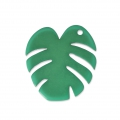Pendant Tropical leaf of Philodendron 30mm Dark Green x1